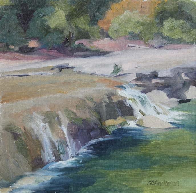 """""""Bull Creek Falls"""" original fine art by Susan Andersen"""