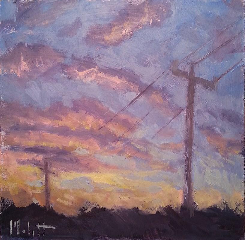 """Contemporary Impressionism Sunset Drive Original Oil Painting"" original fine art by Heidi Malott"