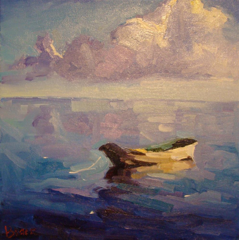 """""""Peaceful Purple"""" original fine art by Rita Brace"""