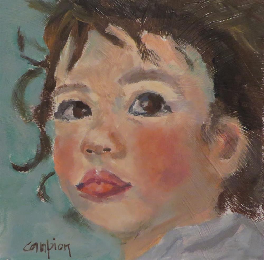 """""""782 Pink Cheeks"""" original fine art by Diane Campion"""