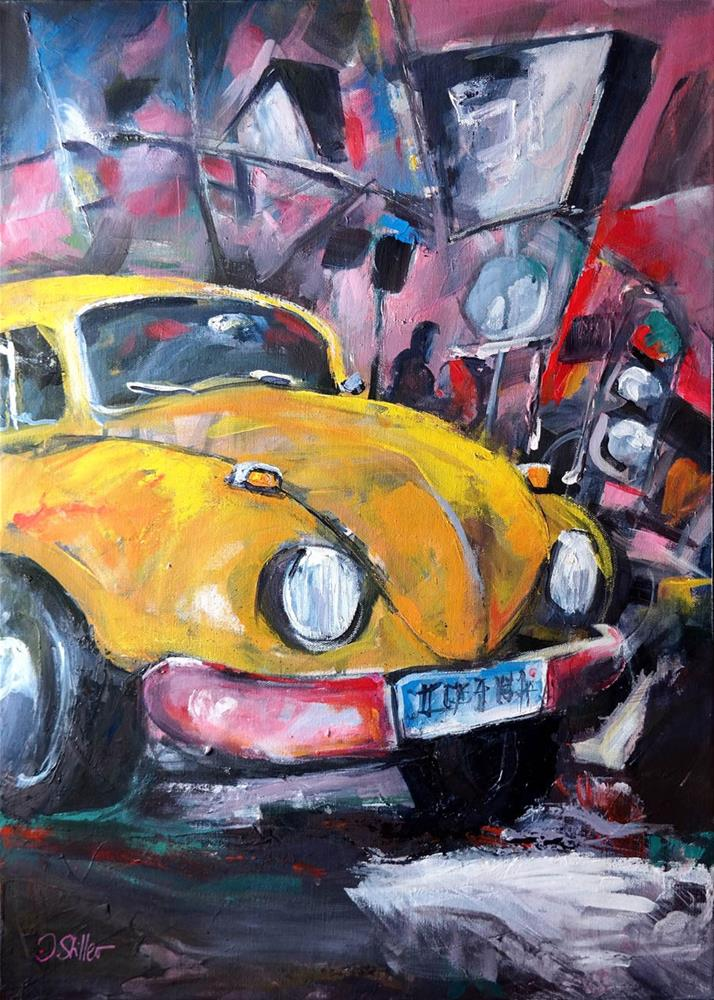"""2651 Big City Beetle"" original fine art by Dietmar Stiller"