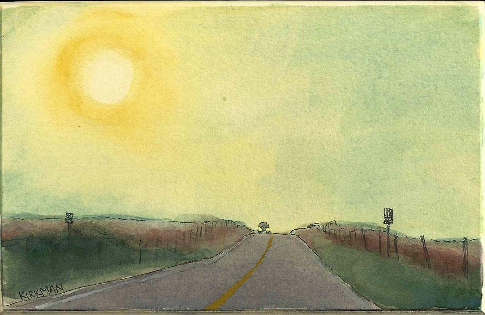 """Road Sketch 12"" original fine art by Rita Kirkman"