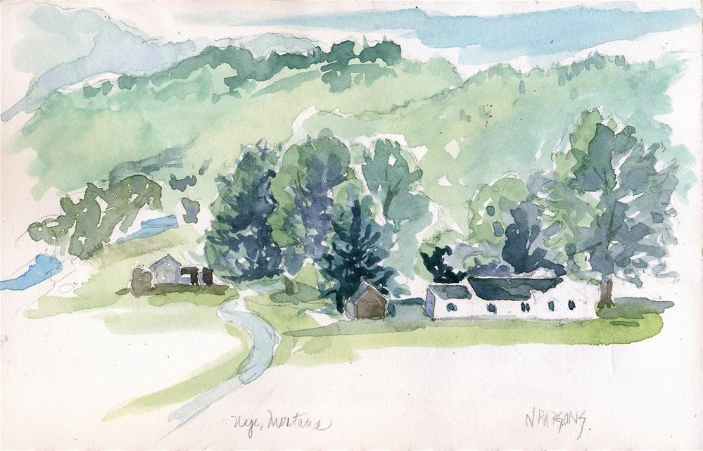 """Wood Ranch, Nye I"" original fine art by Nancy Parsons"