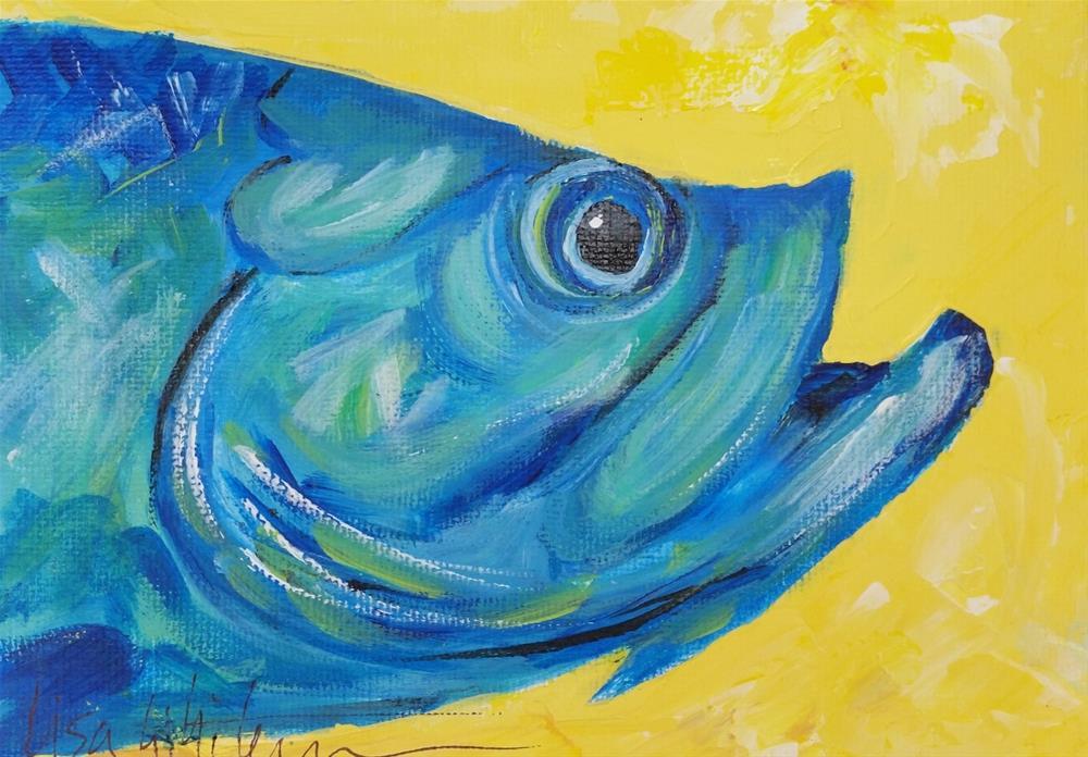 """34 - Oh boy"" original fine art by Lisa Rogers"