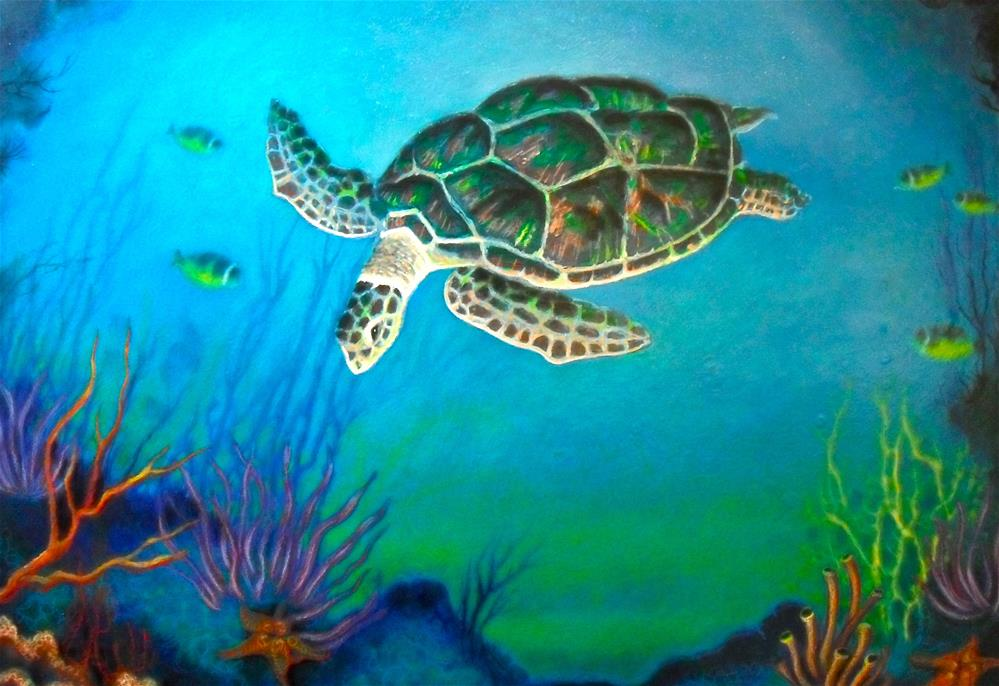 """Under the Sea"" original fine art by Karen Roncari"