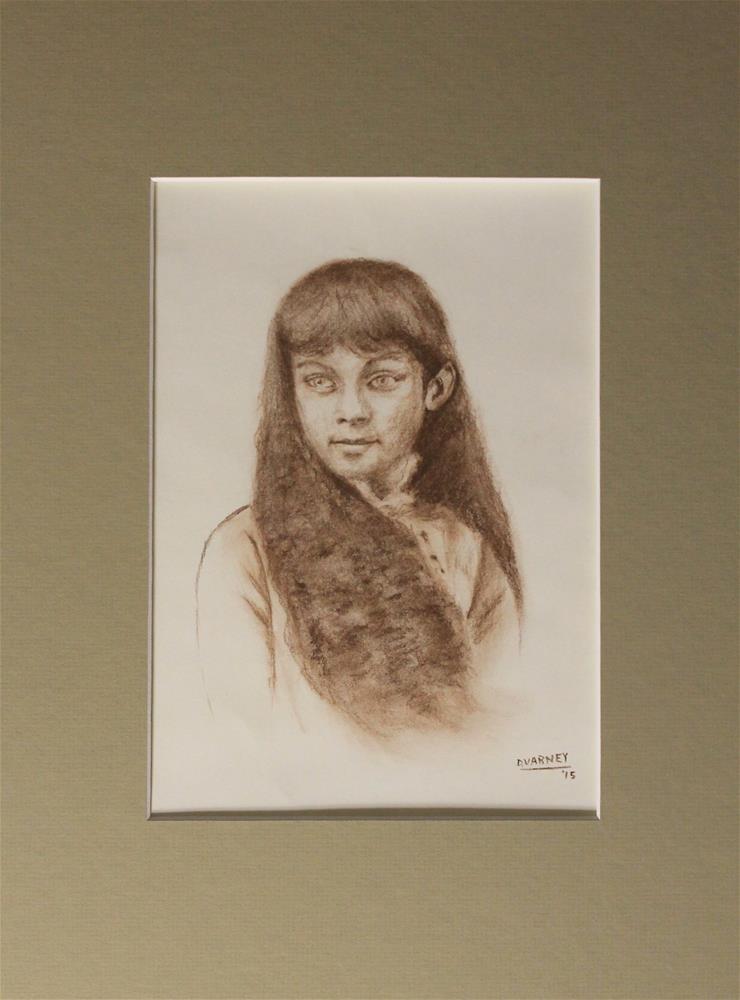 """Portrait of Girl"" original fine art by Daniel Varney"