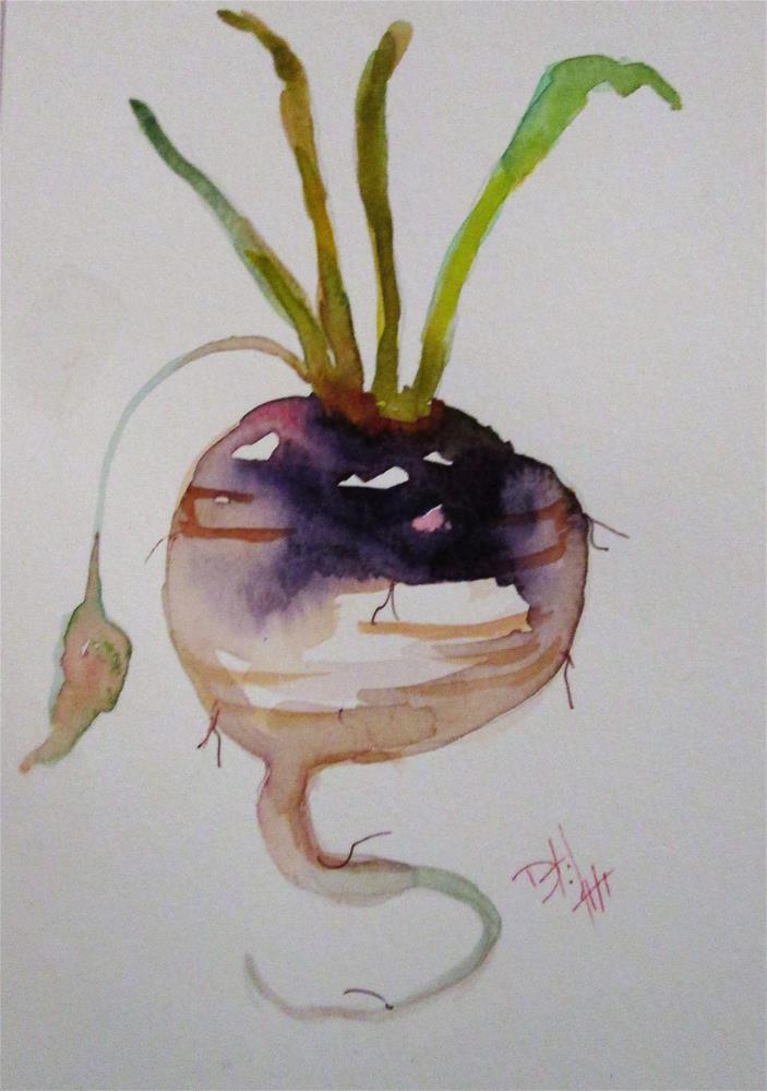 """Turnip"" original fine art by Delilah Smith"