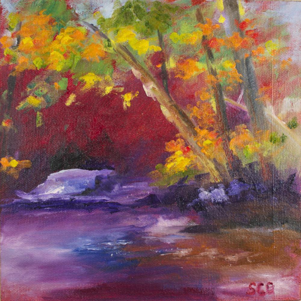 """""""Magenta Landscape"""" original fine art by Sue Churchgrant"""