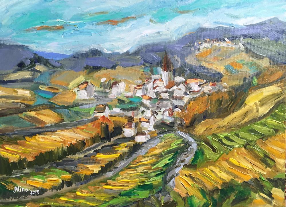 """""""View in Alsace"""" original fine art by Alina Vidulescu"""