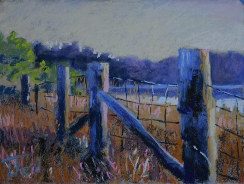 """Down the Line"" original fine art by Toby Reid"