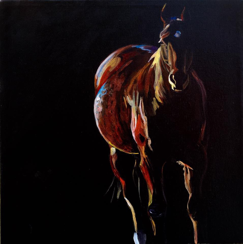 """Shadow Pony"" original fine art by Lauren Kuhn"