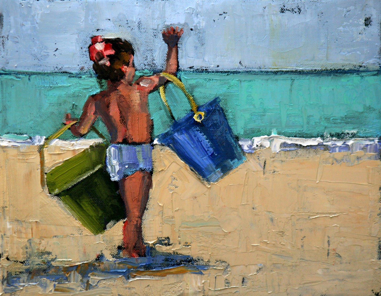 """heave ho"" original fine art by Carol Carmichael"
