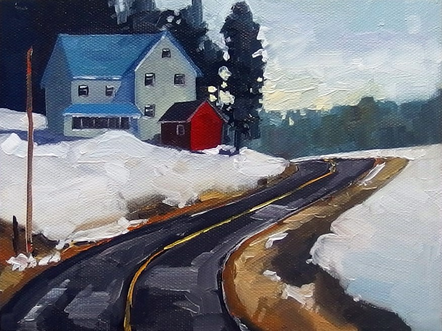 """No 832 The Red Shed"" original fine art by Robin J Mitchell"