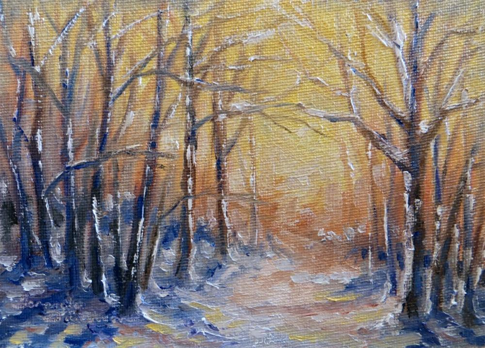"""January Warmth"" original fine art by Tammie Dickerson"