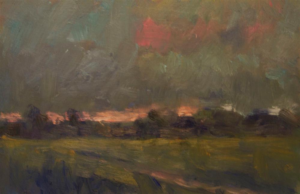 """Dark Clouds, Pink Sky"" original fine art by Andre Pallat"