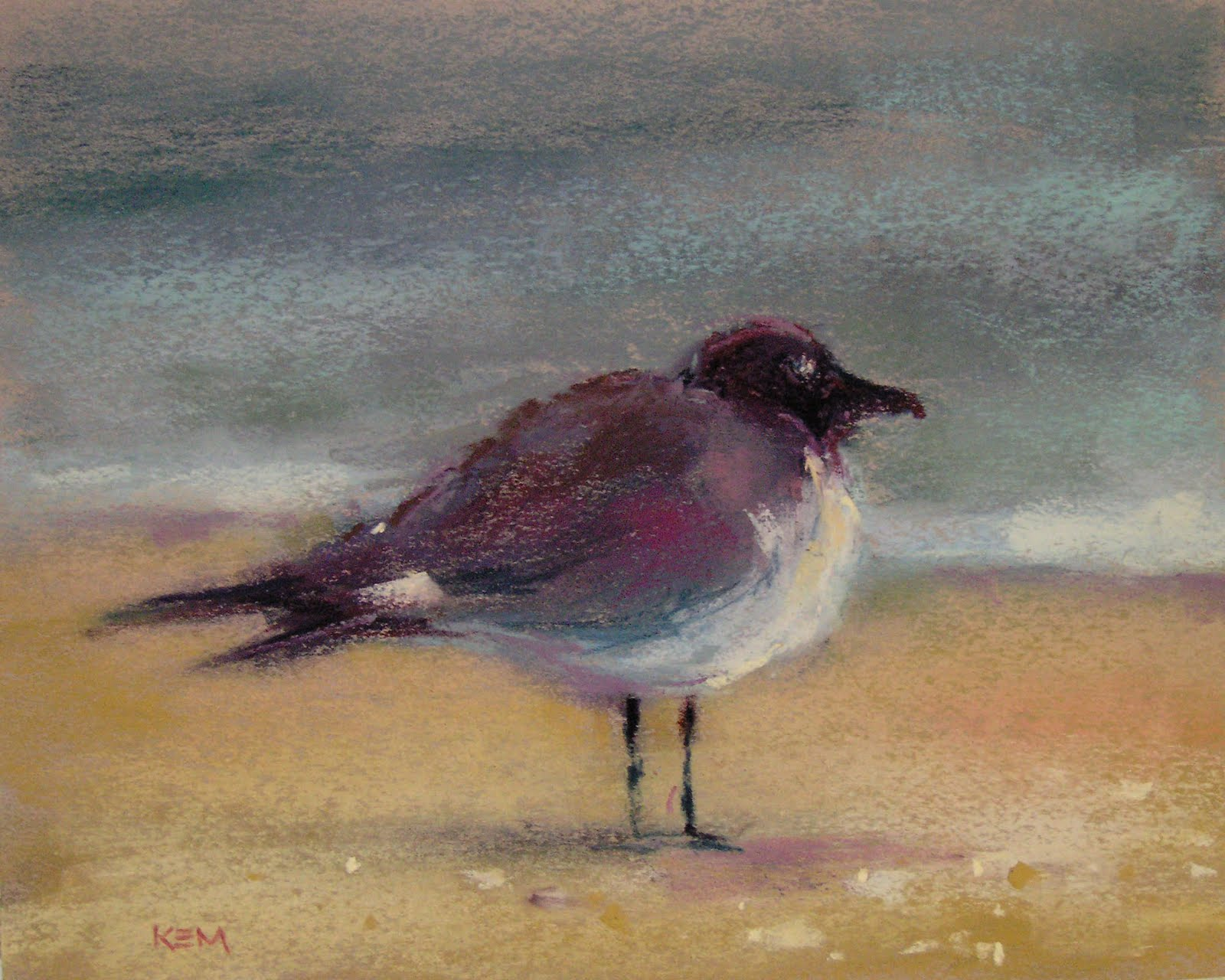 """A New Sea Gull Painting"" original fine art by Karen Margulis"