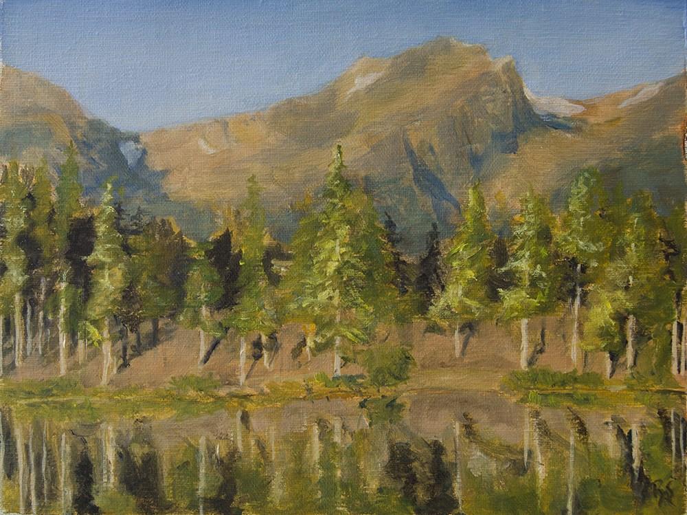 """""""Sprague Lake II"""" original fine art by Rachel Steely"""