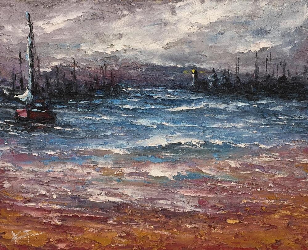 """""""Safe Harbor"""" original fine art by Ken Fraser"""
