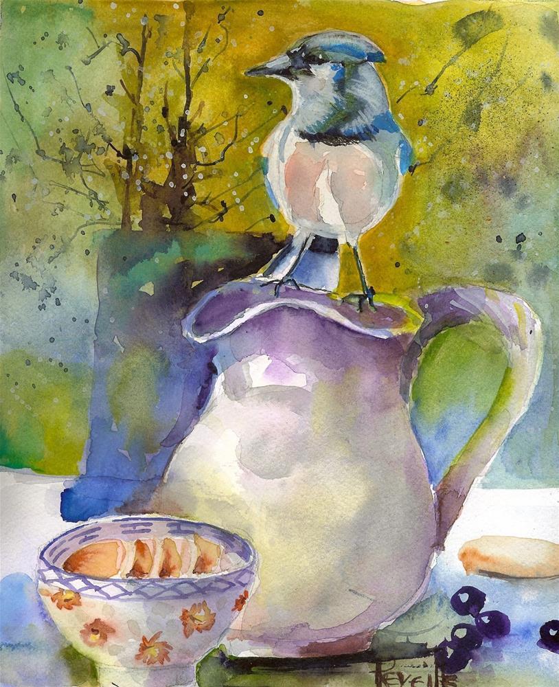 """""""Bluebird Breakfast"""" original fine art by Reveille Kennedy"""