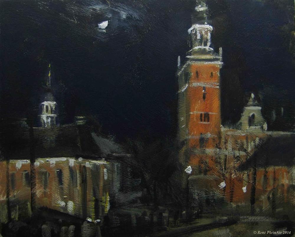 """""""Leer at night. Leer, Germany."""" original fine art by René PleinAir"""