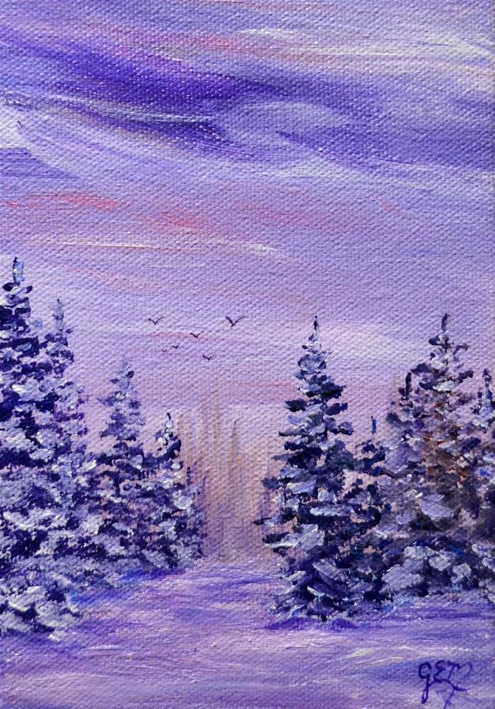 """""""Everpurples"""" original fine art by Gloria Ester"""