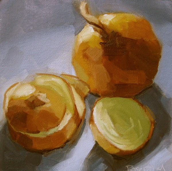 """Onion Slices"" original fine art by Robin Rosenthal"