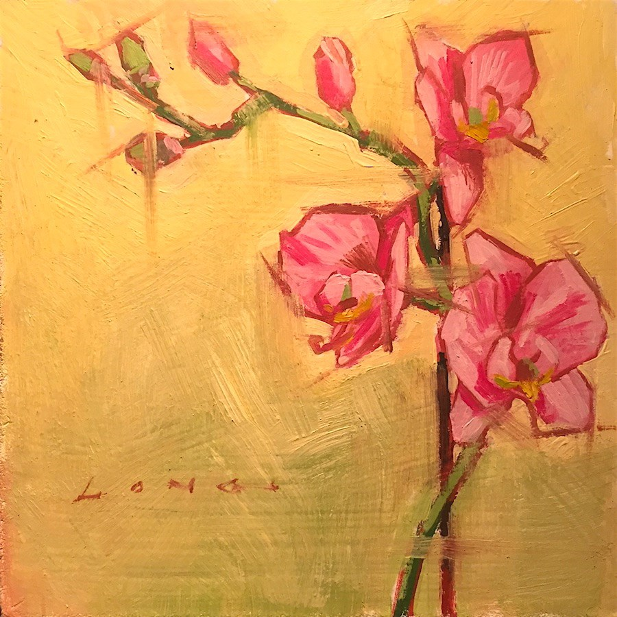 """Orchid"" original fine art by Chris Long"