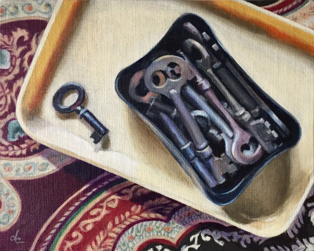 """Keys to the Past"" original fine art by Dana Chester"