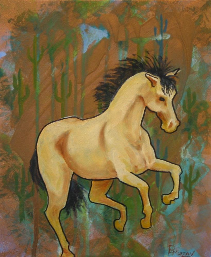 """Desert Steed"" original fine art by Patricia Murray"