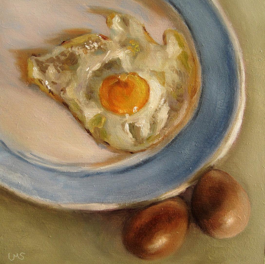 """""""Fried Egg"""" original fine art by Ulrike Miesen-Schuermann"""