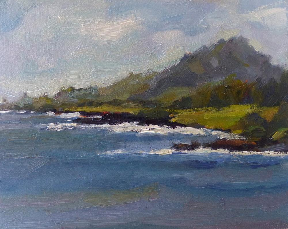 """Coastline of Liho'ula"" original fine art by Katya Minkina"
