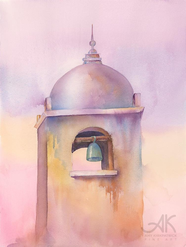 """BELL TOWER #0607"" original fine art by Amy Kirkpatrick"