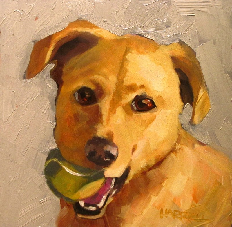 """Chloe"" original fine art by Sue Harrell"