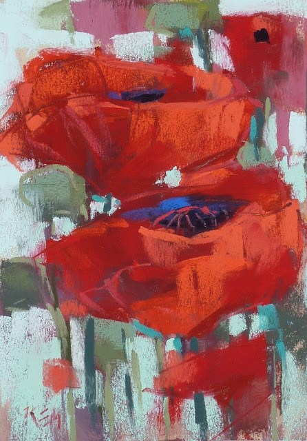 """Exploring the Color RED"" original fine art by Karen Margulis"