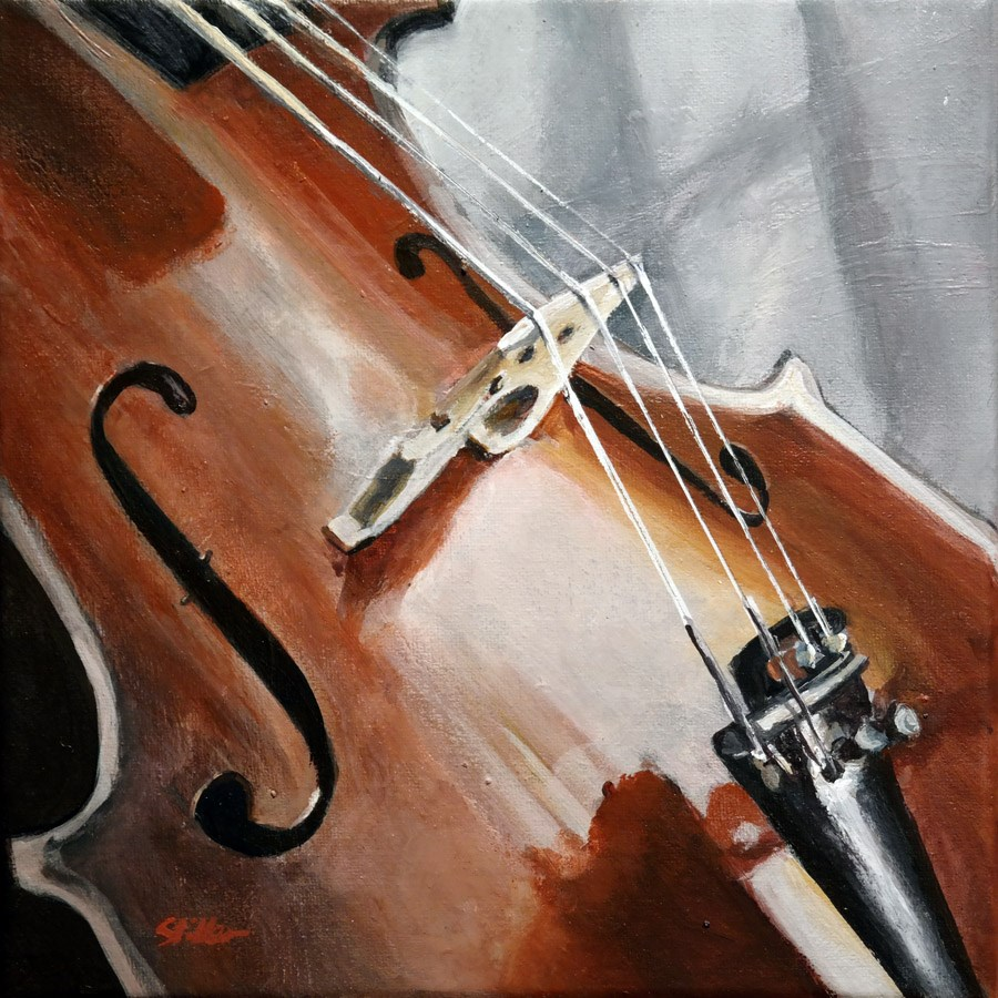 """1563 Holmes' Violin"" original fine art by Dietmar Stiller"