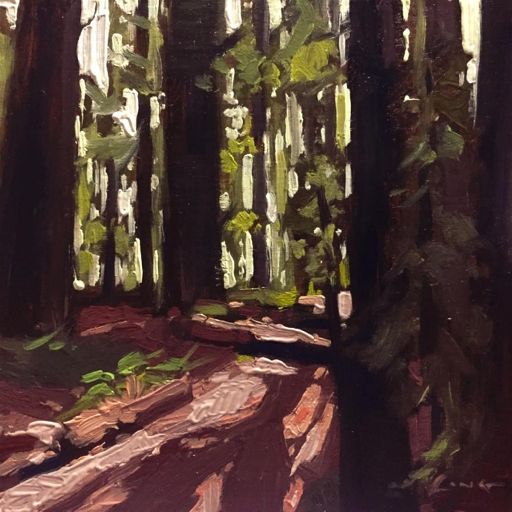 """Redwood Trail"" original fine art by Chris Long"