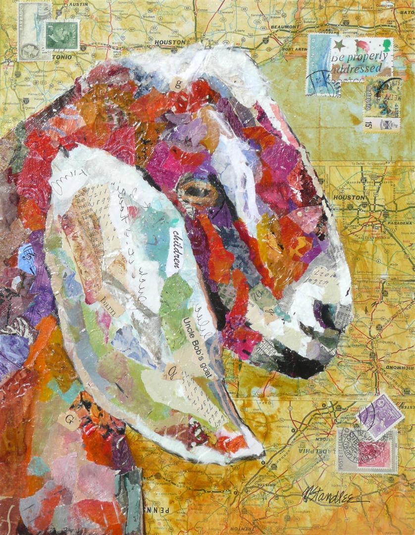 """Uncle Bob's Goat 11030 SOLD"" original fine art by Nancy Standlee"