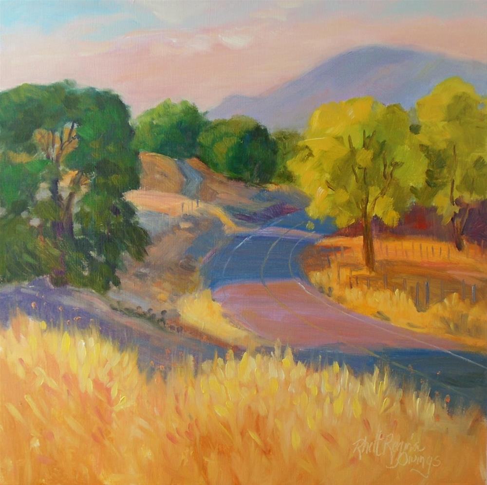 """""""Quiet Foothill Road"""" original fine art by Rhett Regina Owings"""