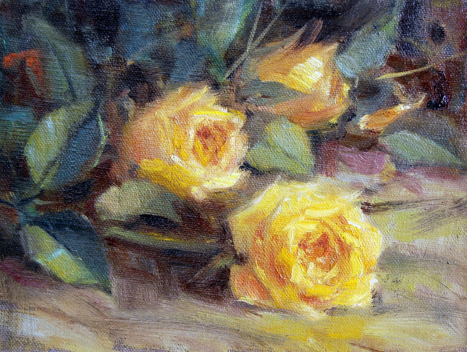 """""""Roses From Son #1"""" original fine art by Julie Ford Oliver"""