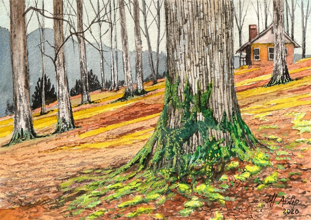 """Green Moss White Oak"" original fine art by Jeff Atnip"