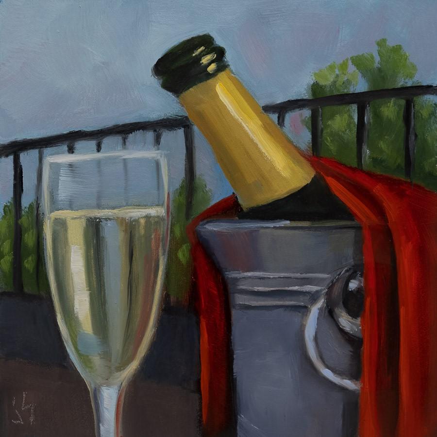 """A Toast to You"" original fine art by Johnna Schelling"