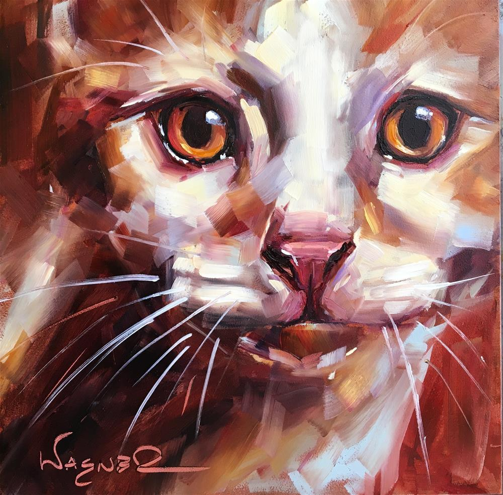 """Rusty"" original fine art by Olga Wagner"