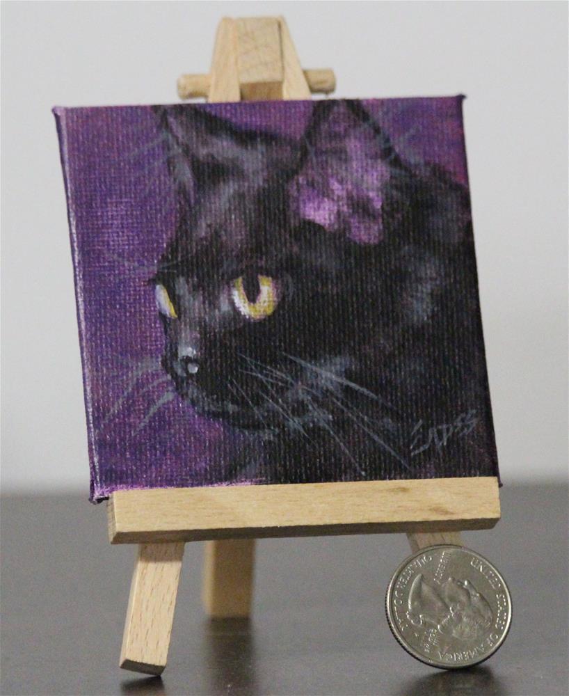 """Sweet Kitty"" original fine art by Linda Eades Blackburn"
