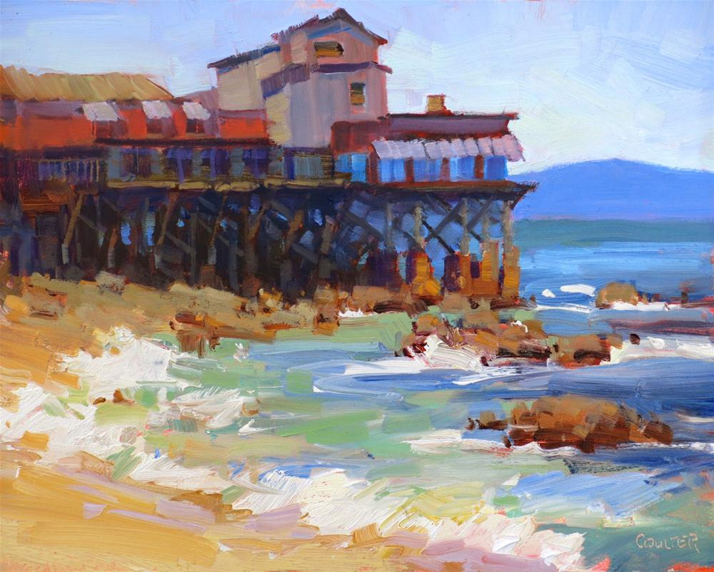 """""""Fisherman's Wharf Monterey"""" original fine art by James Coulter"""