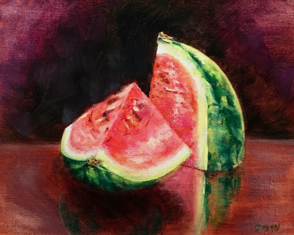 """Watermelon"" original fine art by Dalan Wells"