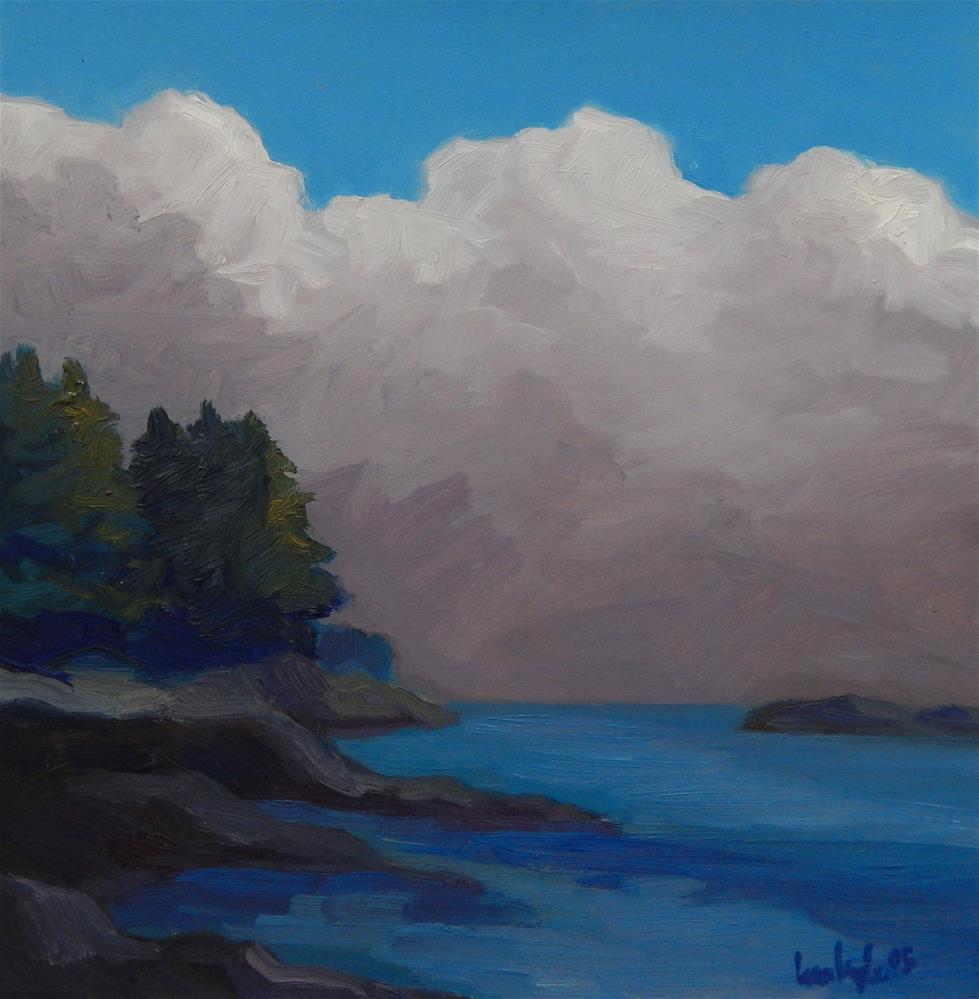 """Building Clouds"" original fine art by Lisa Kyle"