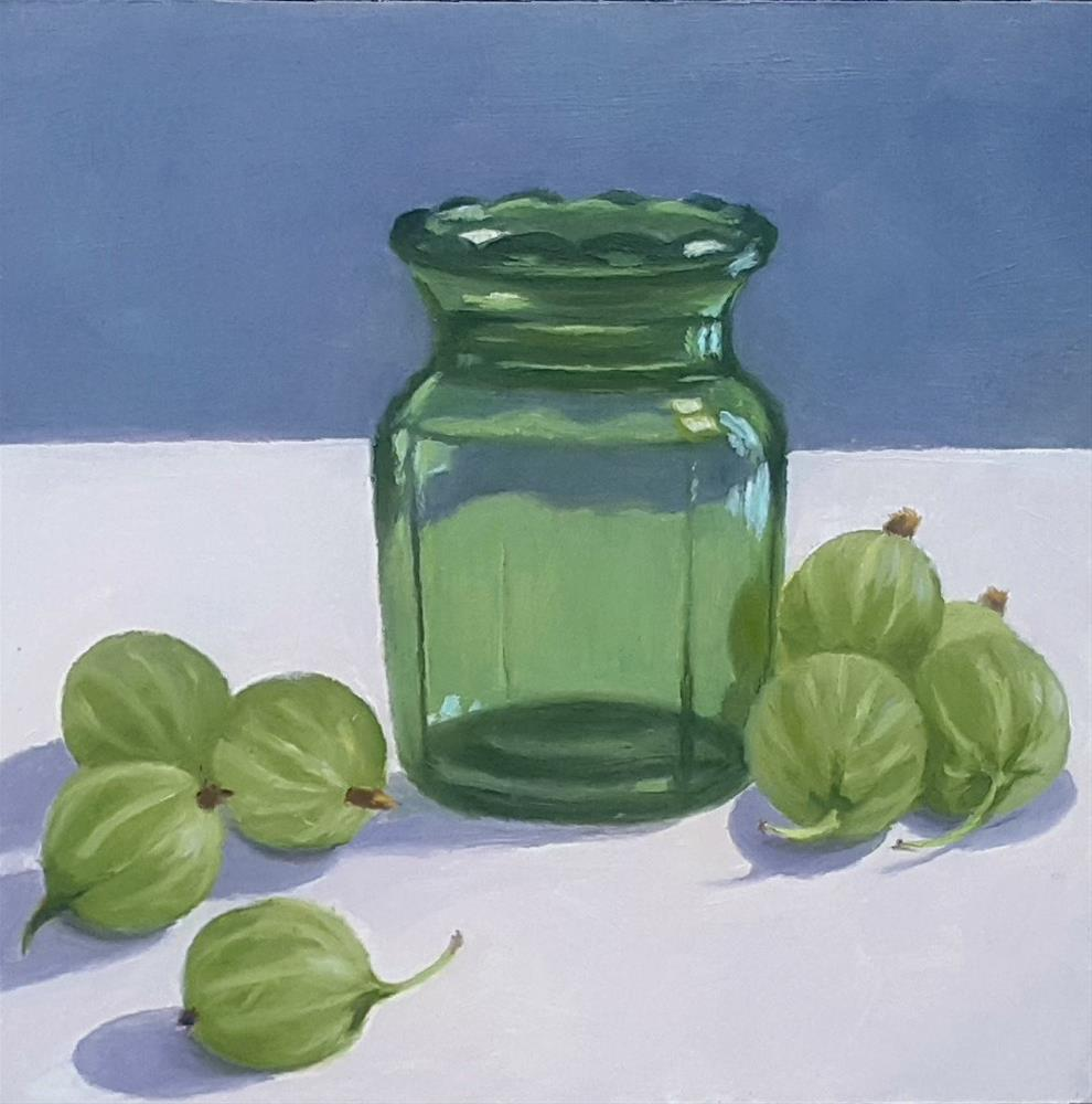 """Gooseberries and Glass"" original fine art by Karen Johnston"