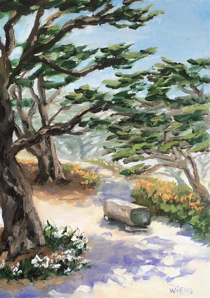"""Bench by the Beach"" original fine art by Laura Wiens"