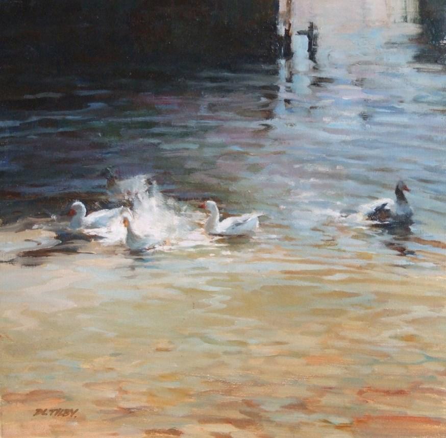 """Play at the Lake"" original fine art by Deborah Tilby"