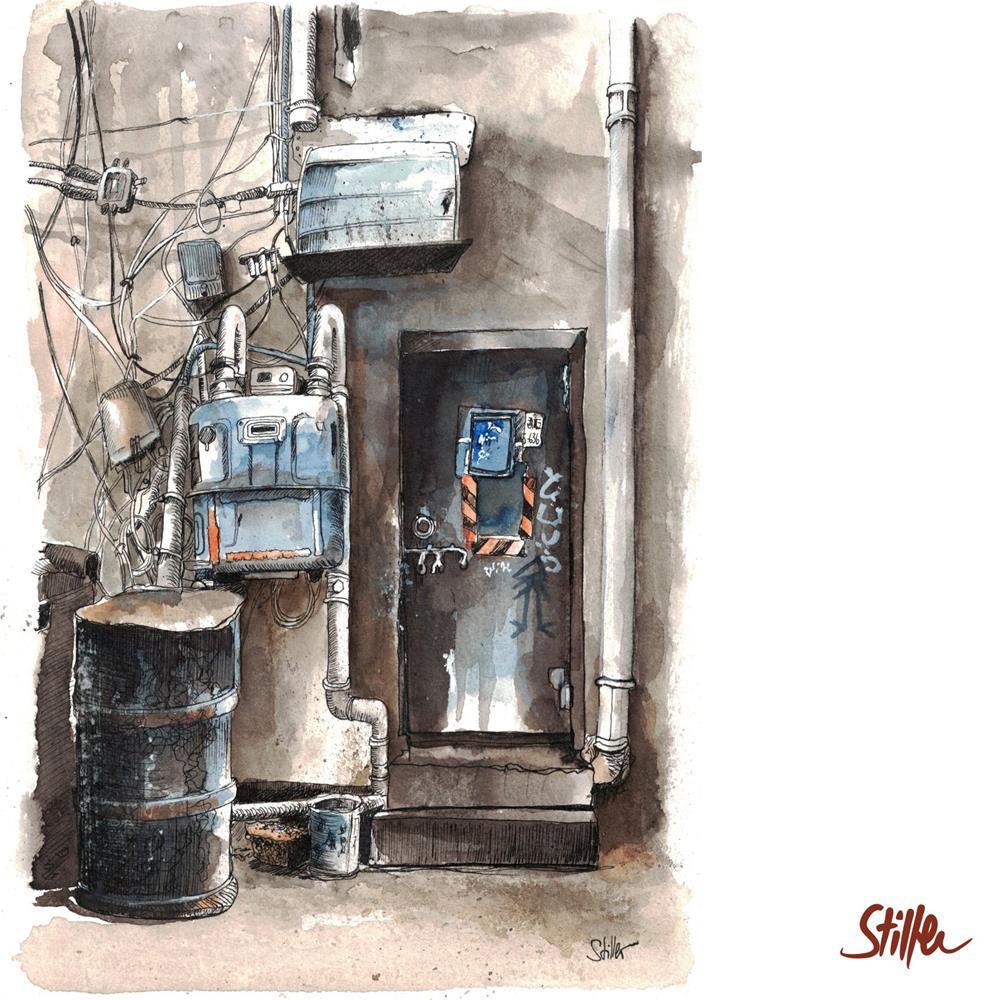 """3465 Chinese Door (Seven)"" original fine art by Dietmar Stiller"
